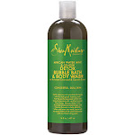 SheaMoisture - Detox Bubble Bath & Body Wash with Charcoal & Opuntia - African Water Mint & Ginger (16 Fluid Ounces) - Body Wash