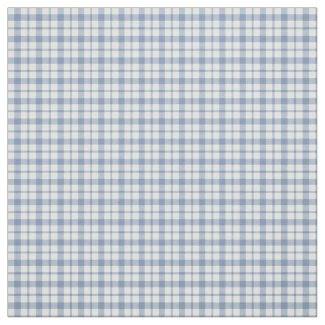 Chic Indigo Blue White Preppy Check Fabric