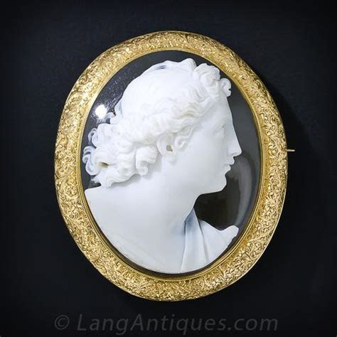 Large Hardstone Cameo Brooch