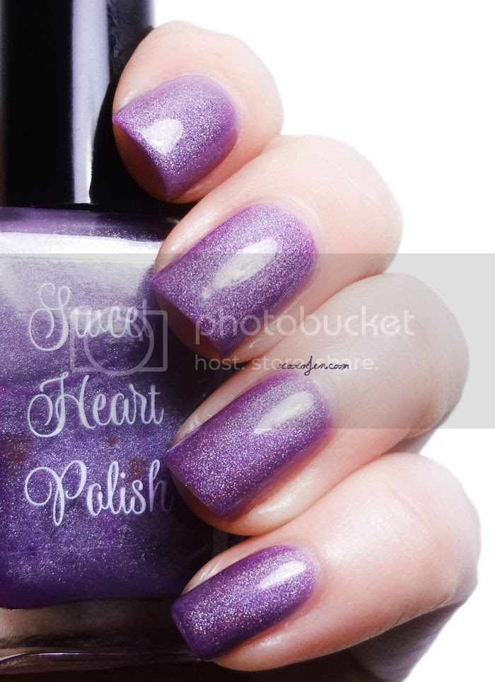 xoxoJen's swatch of Sweet Heart Polish Purple Lotus