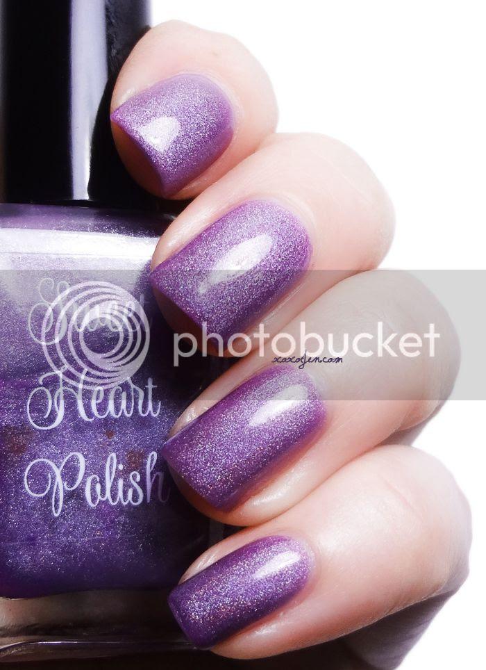 xoxoJen's swatch of Sweet Heart Polish Purple Lotus