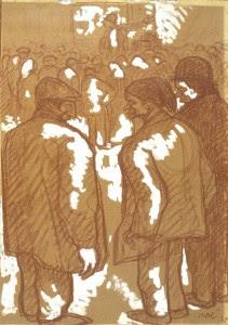 Isidre Nonell, L'arrencaqueixals, 1909.