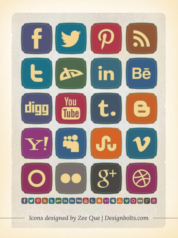 20-Free-Retro-Style-Old-Social-Media-Icons-Set-(256-x-256-PNG)