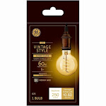 GE 36528 G25 Vintage Spiral Filament LED Light Bulb, 5 Watts