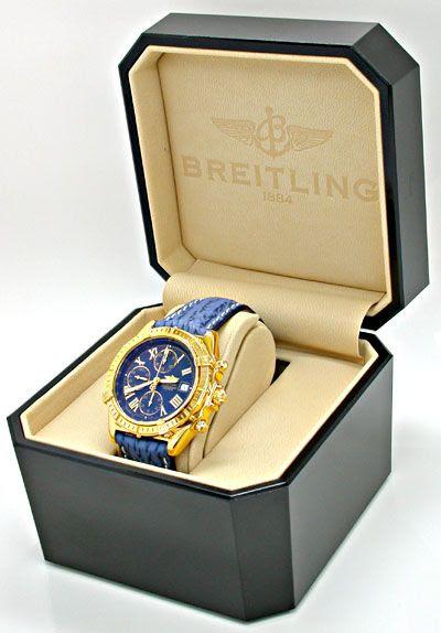 Foto 5, Breitling Crosswind Gelbgold Faltschliesse Geprüft Neuz, U1921