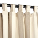 "Sunbrella Outdoor Curtain with Tabs - Regency Sand - 50""W x 108""L"