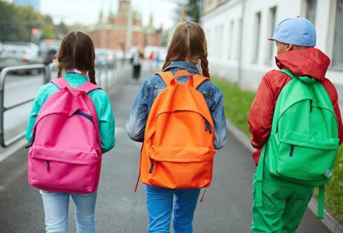 Lighten up your children's backpacks.