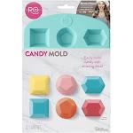 Wilton 12 Cavity 3D Shape Candy Mold, Hexagon, Pentagon, Square, 2115-4372
