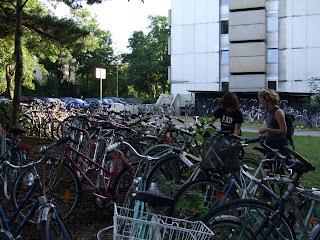 Pàrquing de bicicletes de la residència