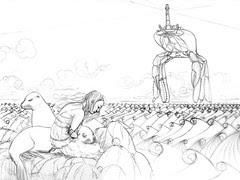 WIP Sea Lion Dream - Rough sketch 4