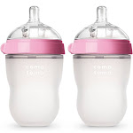 Comotomo Baby Bottle, Pink, 8 oz - 2 pack