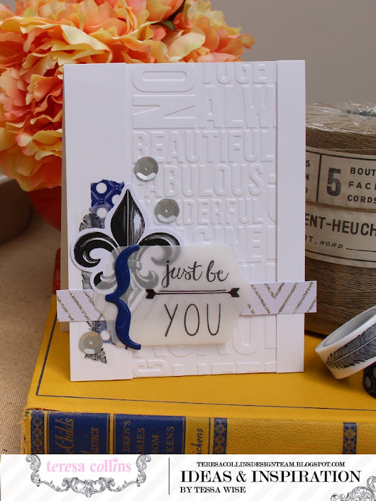 Embossed and Embellished Cards Featuring Urban Market by Tessa Wise
