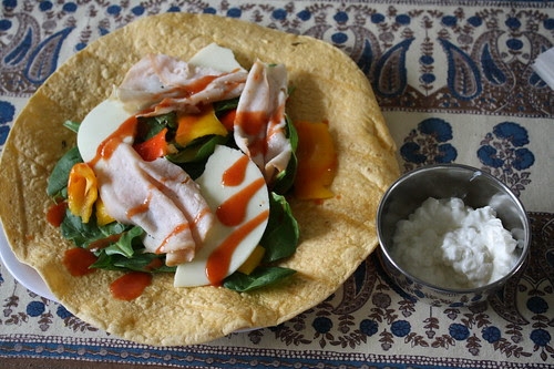 turkey wrap and cottage cheese