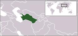 Vị trí của Turkmenistan