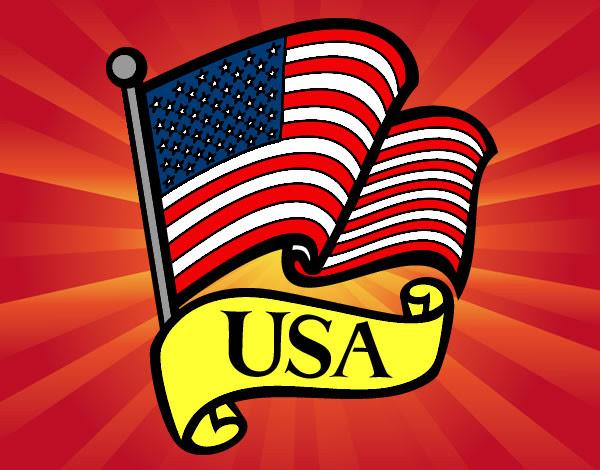 Dibujo De Bandera De Los Estados Unidos Pintado Por Luna280 En