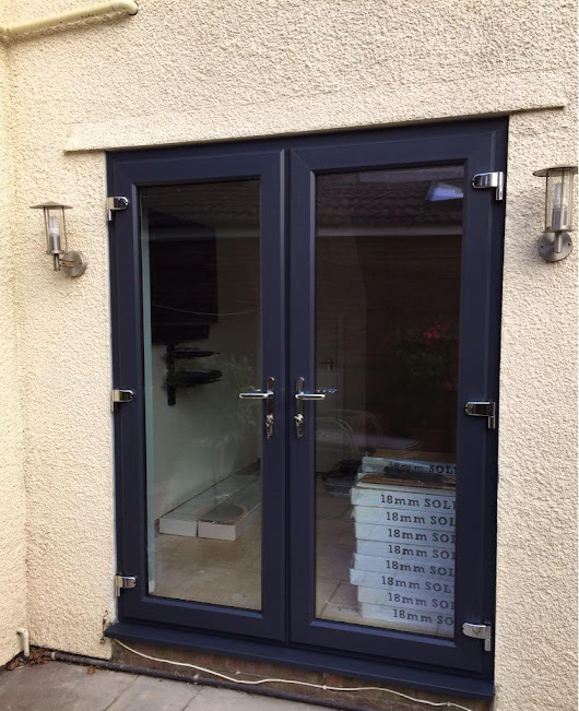 "InspireRach on Twitter: ""Fitted today @REHAUWindows anthracite grey French doors. The customer is very happy with his new doors #Cardiff """