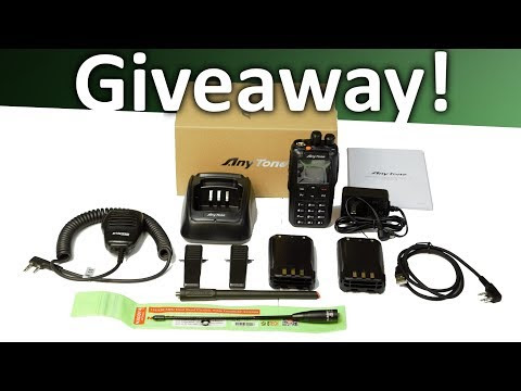 AnyTone AT-868UV + Nagoya NA-701 Antenna + 2 Batteries + BCS-200 Speaker Mic bundle giveaway