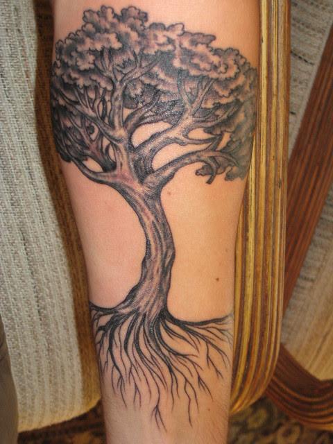 Style Tattoo Supermodel Oak Tree Tattoo