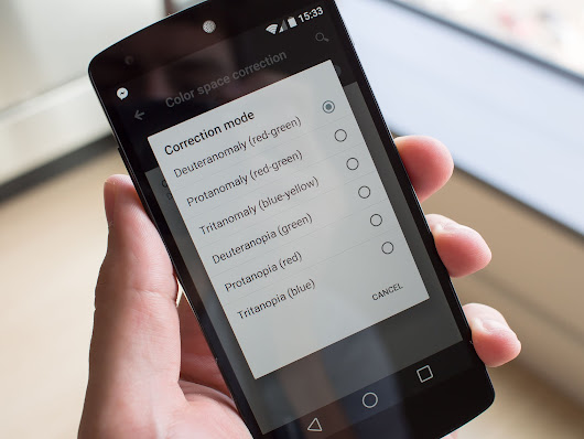 Android L includes new display modes for color blind users