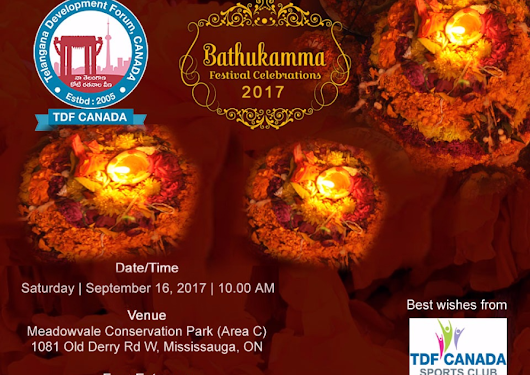 Worldwide Bathukamma Celebrations – 2017 | Mission Telangana