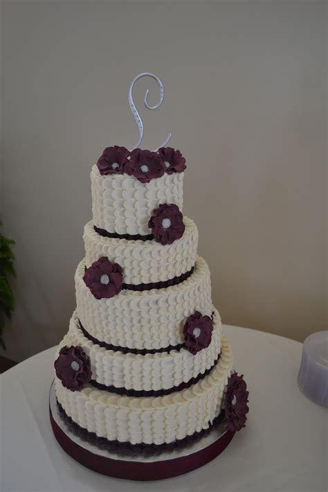 Cakes by Lala: 5 tier petal wedding cake