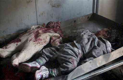 Two Iraqi children killed when an American soldier opened fire on the car they were in