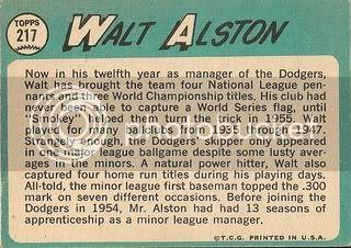 #217 Walt Alston (back)