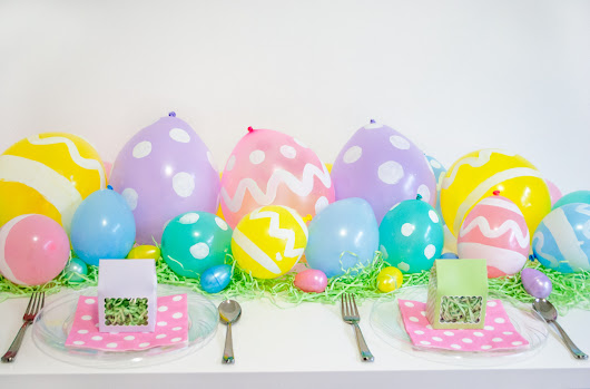 Easter Egg Balloon Table Runner - Itsy Belle