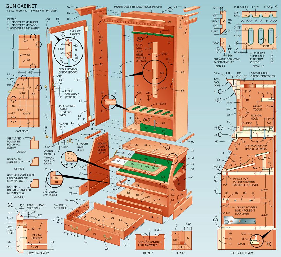 Plans For Homemade Gun Cabinet Plans DIY Free Download ...