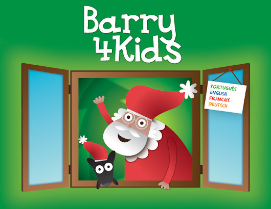 Christmas website (in 4 languages) of the dog Barry - especially designed for children - barry4kids