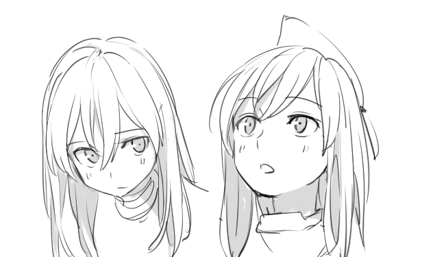 Anime Girl Face Drawing Reference