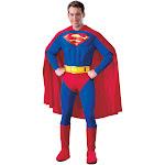 Superman Deluxe Adult Costume - 297 - Red - Medium (38-40)
