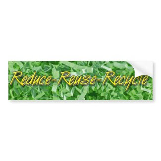 Green Reduce-Reuse-Recycle bumpersticker