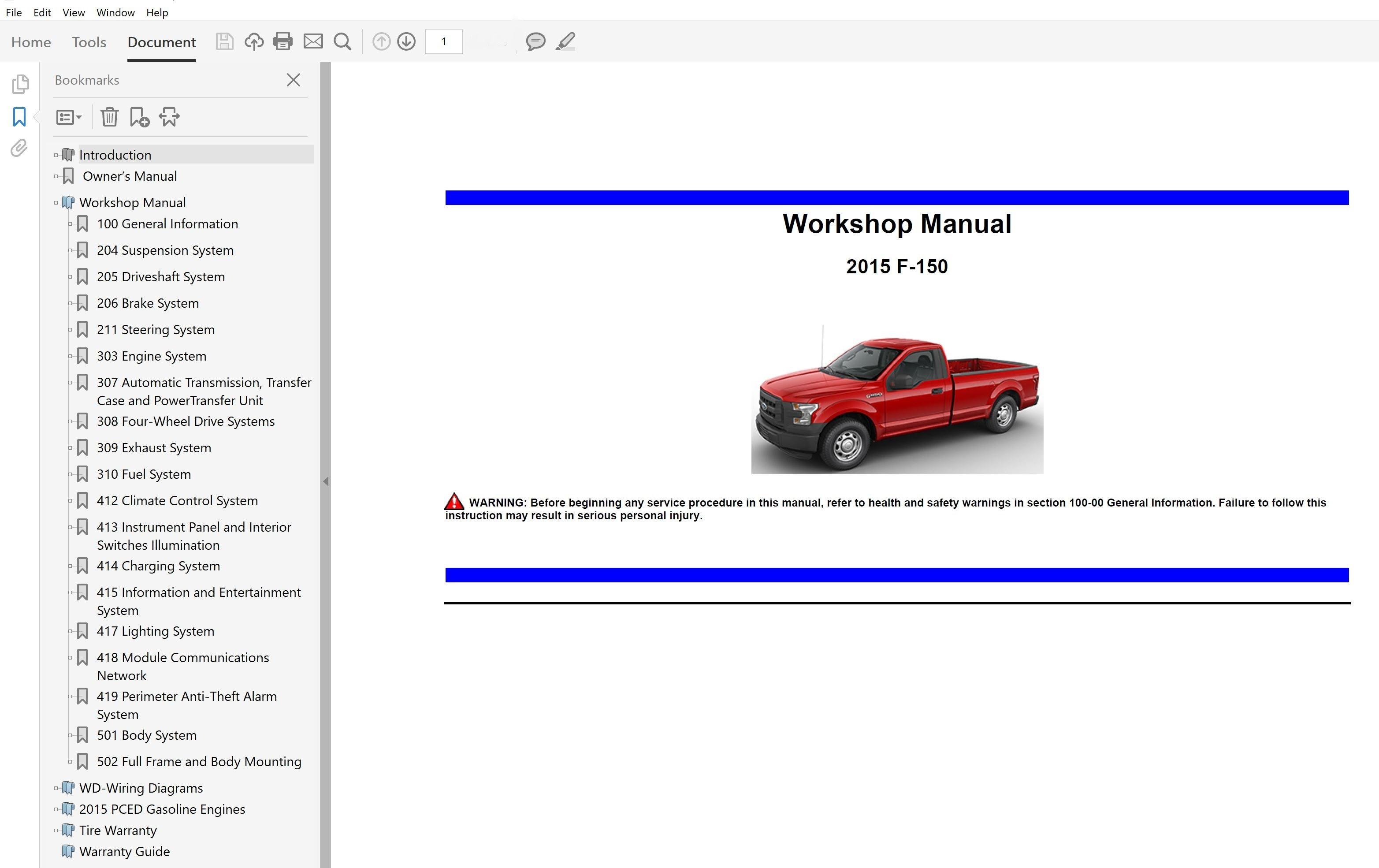 2015 Ford F150 Repair Manual