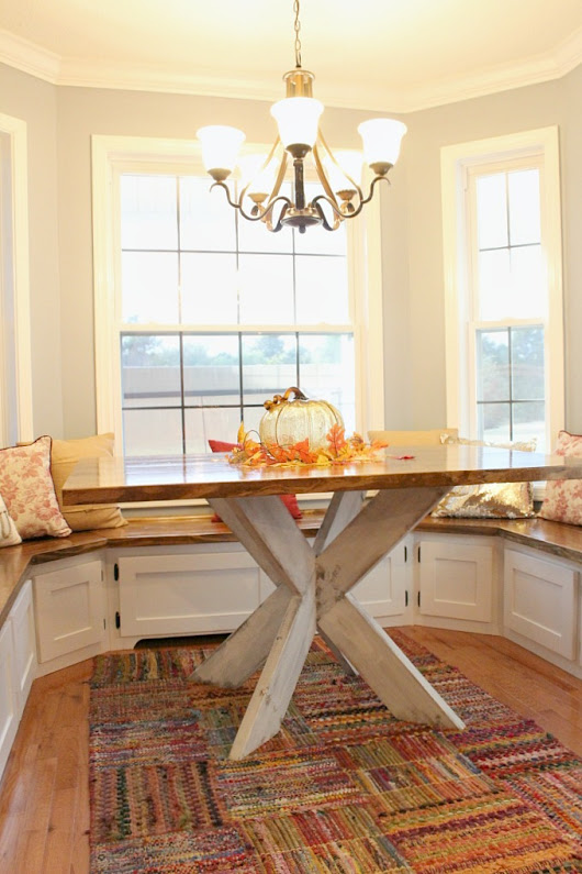 If You Give Your Mom Some Built Ins, She's Going To Want A Table Too--DIY X Base Dining Table