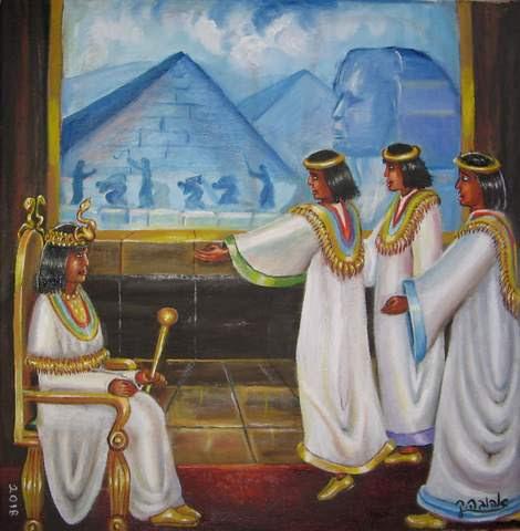 """תוצאת תמונה עבור ציורי תנ""""ך/ בא אל פרעה/ ציירה: אהובה קליין"""""""