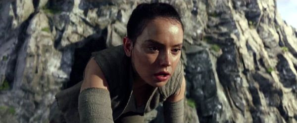 Rey (Daisy Ridley) begins her Jedi training in STAR WARS: THE LAST JEDI.