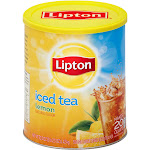 Lipton Iced Tea Mix, Lemon - 50.3 oz can