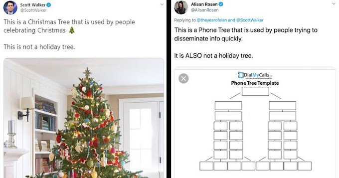 Politician's Overly Sensitive Tweets About 'Holiday Trees' Get Roasted