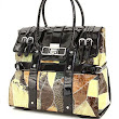 Patchwork Alligator Crocodile Rolling Bag -Use as a briefcase or laptop bag
