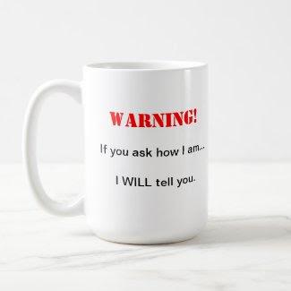 Ask me mug
