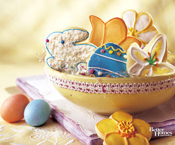 Easter Cookies in Bowl