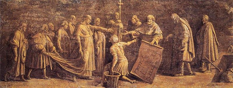 Fil: Hall of Constantine, grunden för basilikan St peter.jpg
