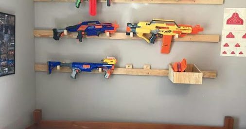French Cleat Nerf Gun Rack Too Cool