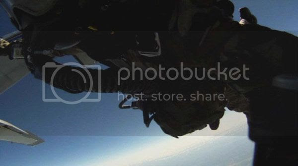 Moments after leaping out of the plane for my HALO jump above Whiteville, Tennessee...on April 29, 2013.