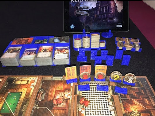 Mansions of Madness Card Trays by 3d4Geeks on Etsy