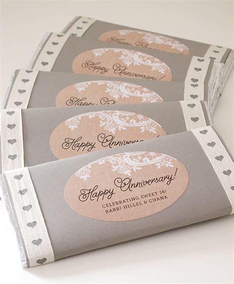 Anniversary Chocolate Bar Favors   Wedding Inspiration