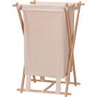 Household Essentials Collapsible Wood X-Frame Laundry Hamper