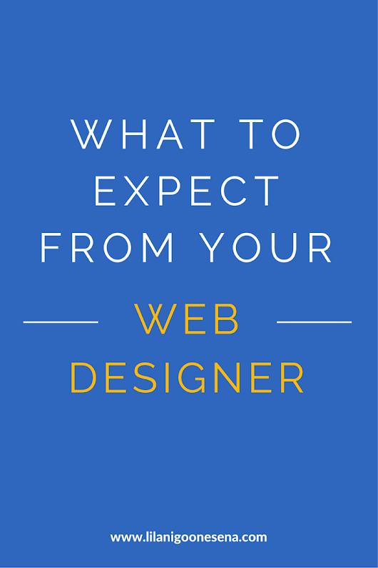 What To Expect From Your Web Designer