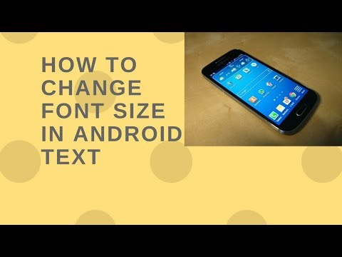 How to change font size in android text